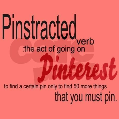 'Pinstracted' could also be considered an adjective .... one day it may evolve into a proper noun ;)