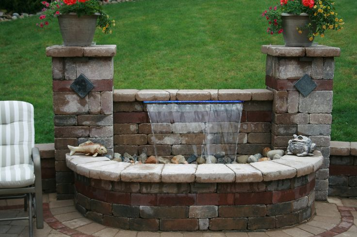 33 best retaining wall fountain ideas images on pinterest for Koi pond kits lowes