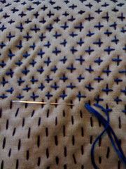cris-cross, boro stitching japanese mending