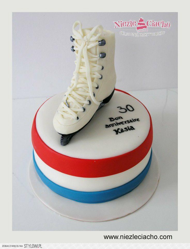 Łyżwy, tort z łyżwami, łyżwiarstwo, jazda na łyżwach, tort dla łyżwiarza, tort dla łyżwiarki, sport, tort dla miłośnika łyżwiarstwa, Tarnów