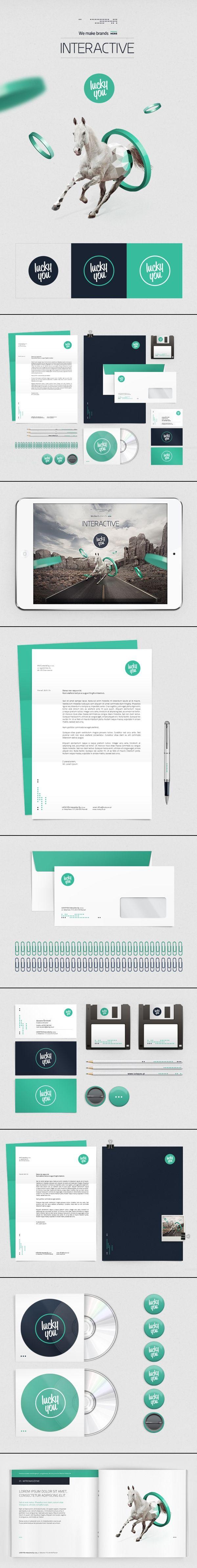 LUCKYYOU | #stationary #corporate #design #corporatedesign #identity #branding #marketing < repinned by www.BlickeDeeler.de | Take a look at www.LogoGestaltung-Hamburg.de