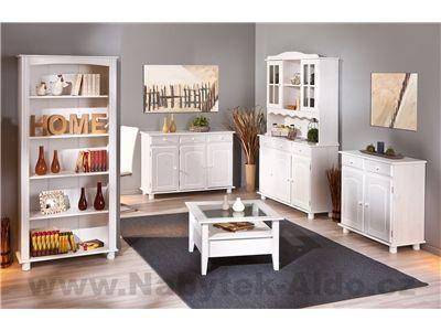 Bílý nábytek z masivu do jídelny