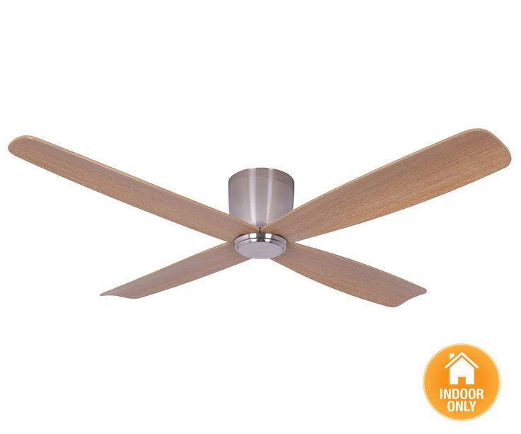 Airfusion Fraser CTC DC Fan Only in Brushed Chrome | Ceiling Fans No Lights | Ceiling Fans | Fans