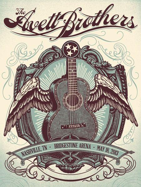 The Avett Brothers Concert Poster