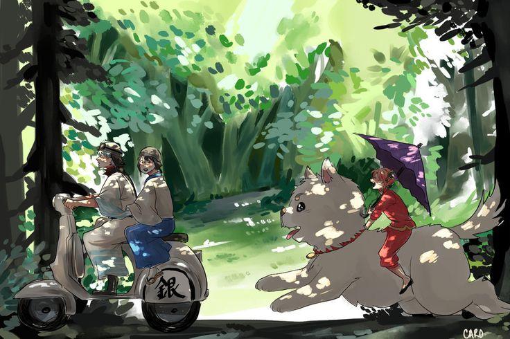 Gintama. Yorozuya by a-zebra-was-here