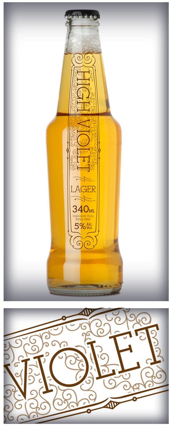 Violet   Nice beer labels #packaging #design by BRENDON HULL, via Behance