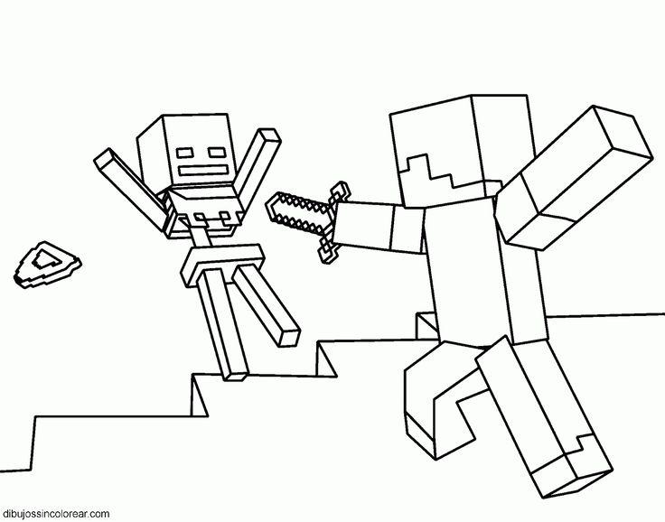 Steve de Minecraft para imprimir y pintar   Minecraft   Pinterest ...