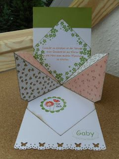 inside vie of lovely garden card from Geheimnis-Lüftung ...  step by step instructions on the blog ...