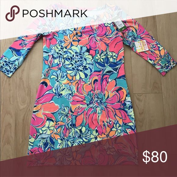 Lilly Pulitzer Sophie Dress NWT. This dress fits TTS, but it's form fitting. If you wear a size small or medium you can wear this dress. Lilly Pulitzer Dresses