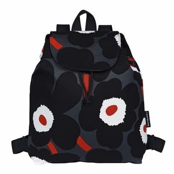 Marimekko Erika Unikko Grey/Black/Brick Backpack