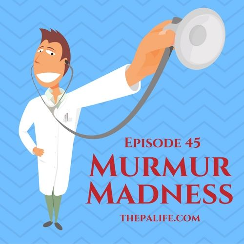 Welcome to episode 45of the FREE Audio PANCE and PANRE Physician Assistant Board Review Podcast. Today we are going to take a brief detour away from 10 daily questions and instead cover the murmurs you need to know for your PANCE and PANRE exam. I have still included an 11 question exam at the end of this postso make sure you scroll downafter you listen to the podcast. There are a total of 17 cardiac conditions that may present on exam day in the form of a descriptive sound/murmur. Yo...