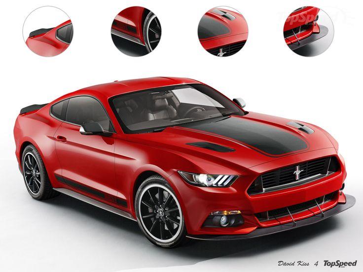 Red Ford Mustang black detailed hood  sc 1 st  Pinterest & 1961 best 2015 Ford Mustang images on Pinterest | 2015 ford ... markmcfarlin.com