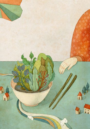 editorial illustrations 2013 by whooli chen, via Behance