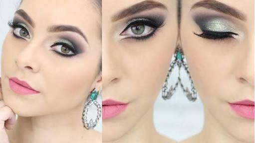 Resultado de imagem para maquiagem vestido verde agua