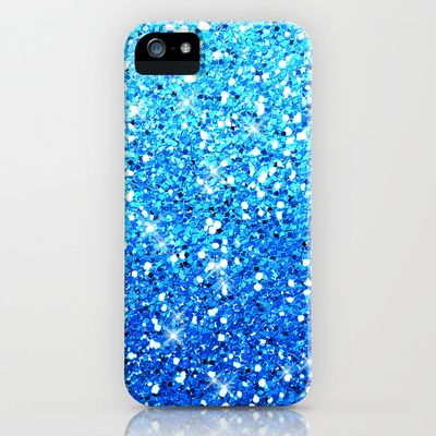 Blue Glitters Sparkles Texture Galaxy S5 Case by Tees2go - $35.00