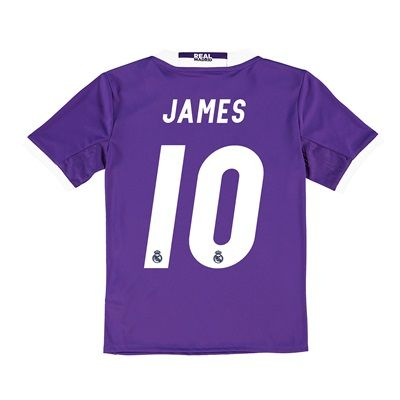 Real Madrid Away Jersey 2016/17 - Kids - with James 10 printing: The Real Madrid Away Shirt 2016-17 - Kids… #RealMadridShop #RealMadridStore