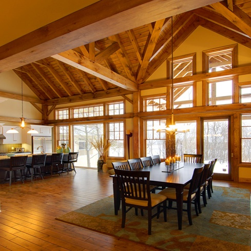 8 best dream home images on pinterest timber frames for Interior pictures of post and beam homes