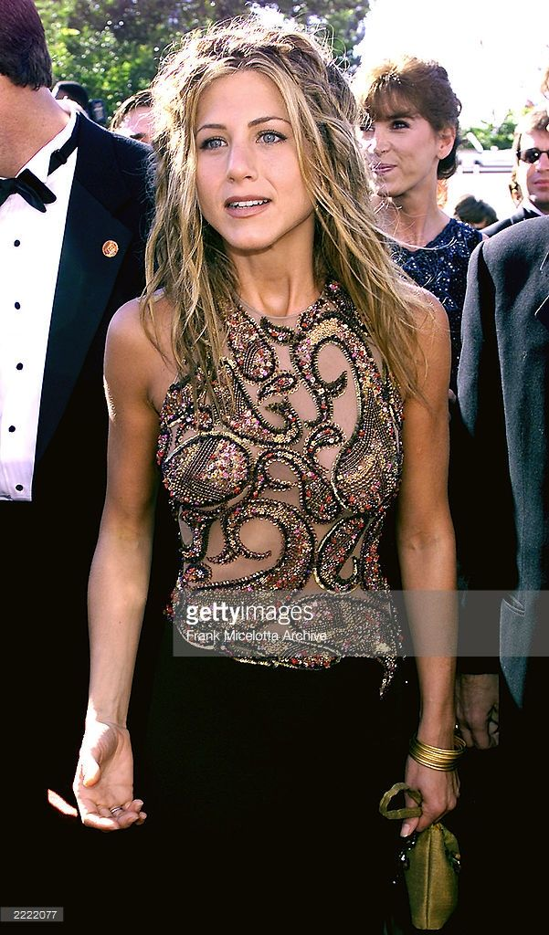 Jennifer Aniston Of Friends At The 1999 Emmy Awards Held