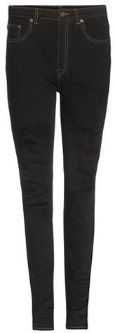 Saint Laurent Distressed High-rise Skinny Jeans