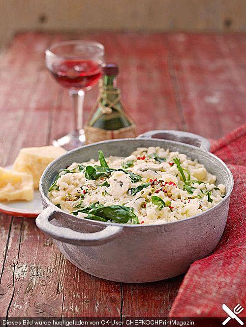 Risotto mit Spinat und Gorgonzola, ein tolles Rezept aus der Kategorie Reis/Getreide. Bewertungen: 174. Durchschnitt: Ø 4,4.