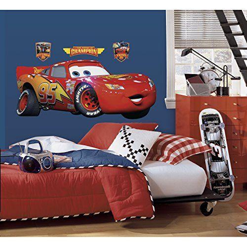Roommates Rmk1518Gm Disney Pixar Cars Lightning Mcqueen Peel & Stick Giant Wall Decal RoomMates http://www.amazon.com/dp/B004AZ1LA4/ref=cm_sw_r_pi_dp_MbL9tb1G16JSG
