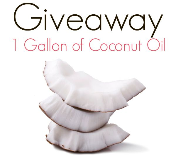 Giveaway: Enter for a chance to win a gallon of coconut oil!