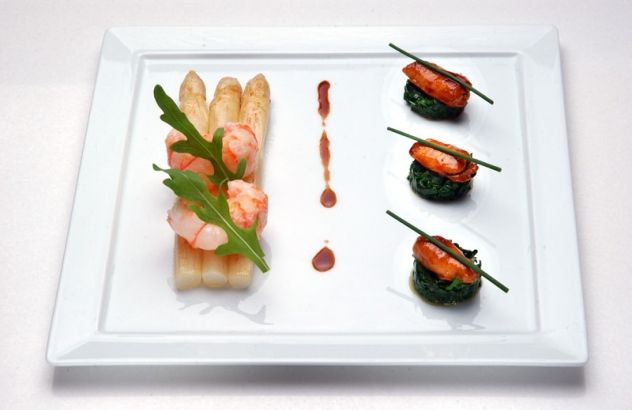 Gebakken asperges met langoustines - Lekker van bij ons !