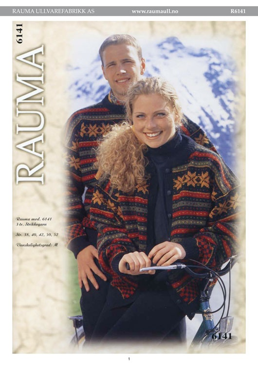 R6141-R6141 Genser og jakke, Rauma-garn