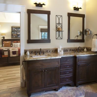 Bathroom Craftsman Style Design Like The Cabinets Granite Fixtures