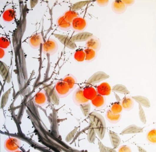 Korean persimmon painting
