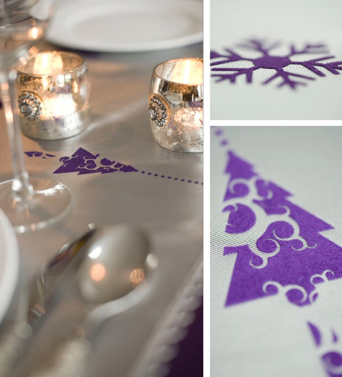 For upcoming Christmas; tableware printed with marvelous design.