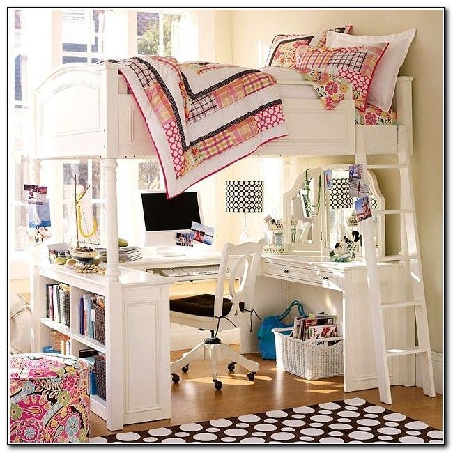 Girls Bedroom Desks best 25+ loft bed desk ideas on pinterest | bunk bed with desk
