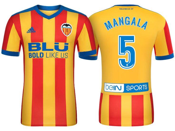Valencia #5 Eliaquim Mangala 17-18 Road Short Shirt