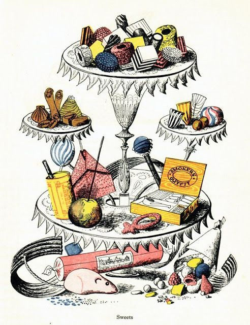 """""""Sweets"""" illustration by Barbara Jones from her 'The Unsophisticated Arts'"""