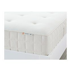 IKEA - HYLLESTAD, Pocket sprung mattress, firm/white, 140x200 cm, , A layer of memory foam moulds to the contours of your body, relieves pressure and helps you to relax.You get support in the right places with the help of individually wrapped pocket springs that work  independently and closely follow your body.A generous layer of soft fillings adds support and comfort.Stretch fabric on topside of the mattress moves with you to maximise comfort.Designed to be used on one side only – no need…