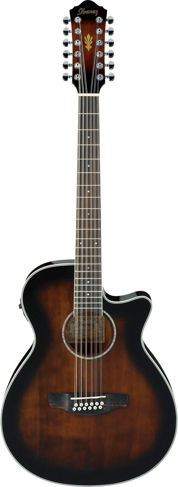 Ibanez AEG1812II 12-String Acoustic-Electric Guitar www.guitaristica.org #electricguitar #guitars #guitaristica