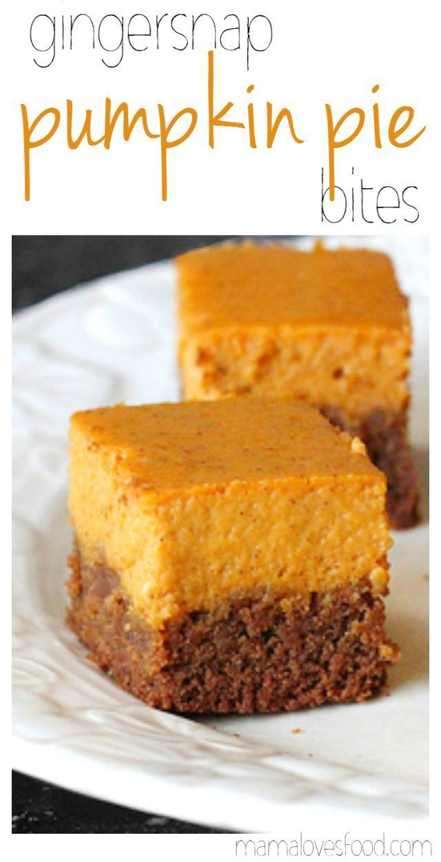 Gingersnap Pumpkin Pie Bites from Mama Loves Food