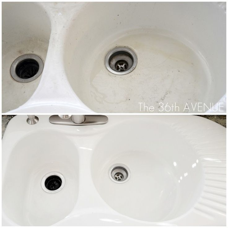 How to clean your porcelain sink .