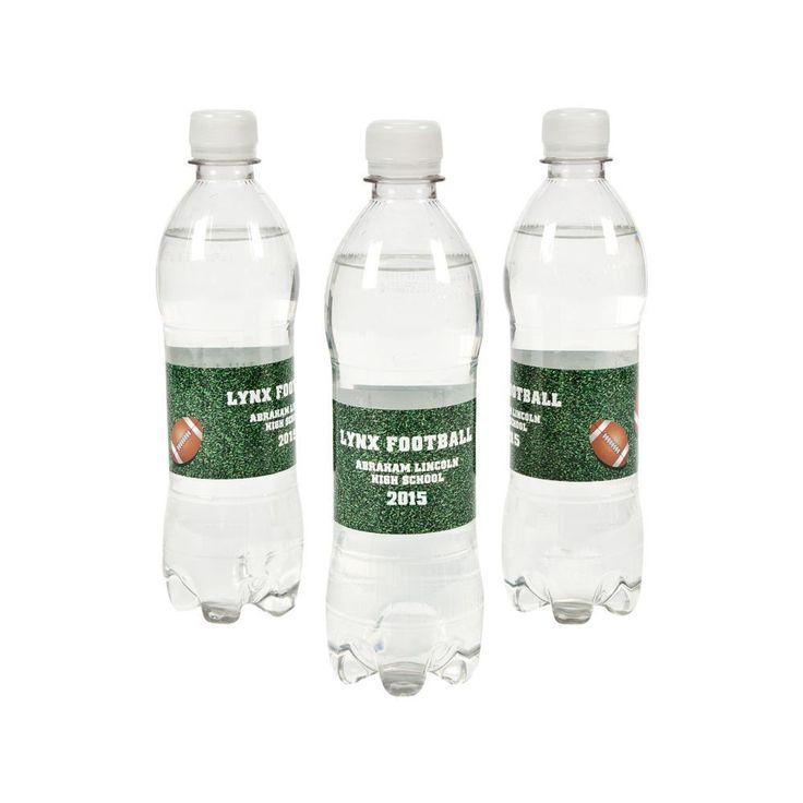 Personalized Football Water Bottle Labels