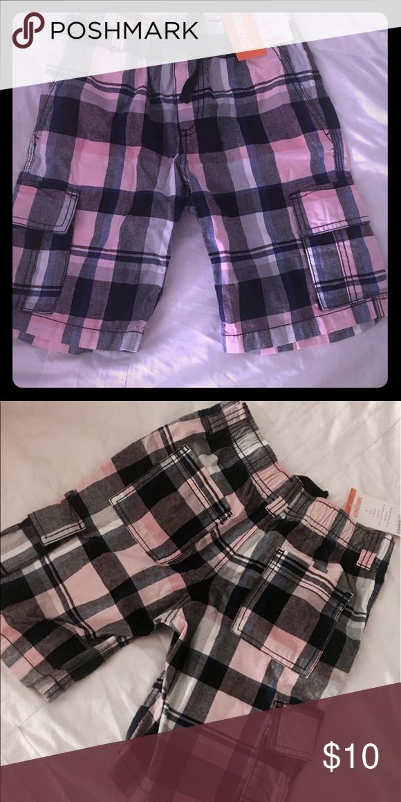 Flirty Boy Cargo shorts Pink, blue and plaid Boys 😍Cargo shorts GET IN TIME FOR EASTER 🐰 Gymboree Bottoms Shorts