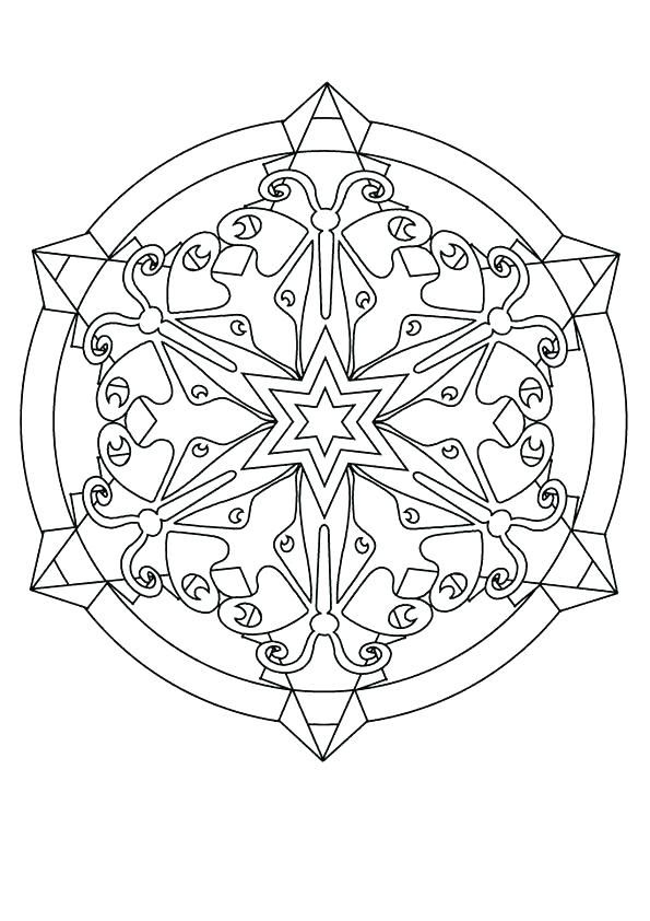 Free Printable Snowflake Coloring Pages For Kids | Mandala ...