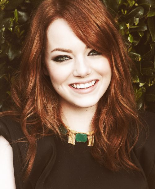 Emma Stone . . . and if you ever want to know what my sister looks like. . .