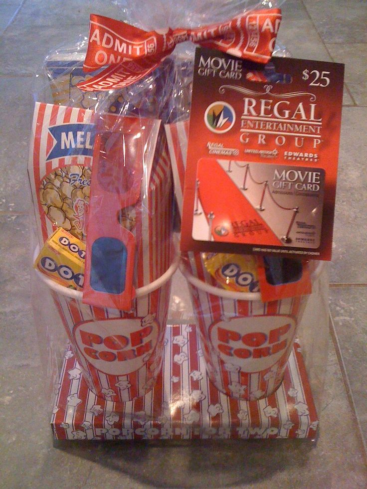 Movie Gift_Basket- containers at the Dollar Tree!