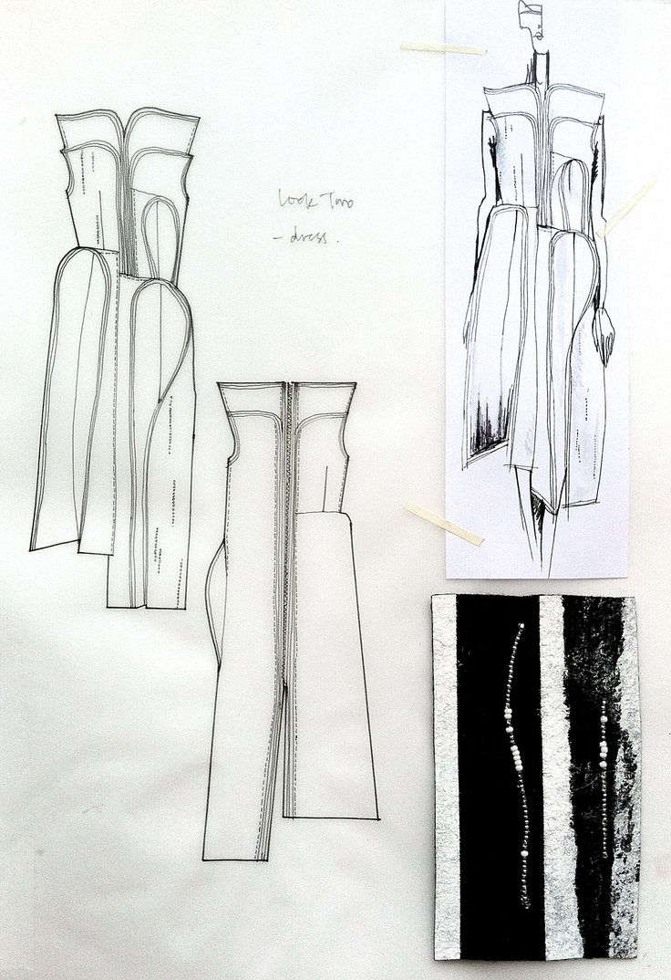 Fashion Sketchbook - fashion design drawings with fabric samples; dress sketches; creative fashion portfolio // Connie Blackaller