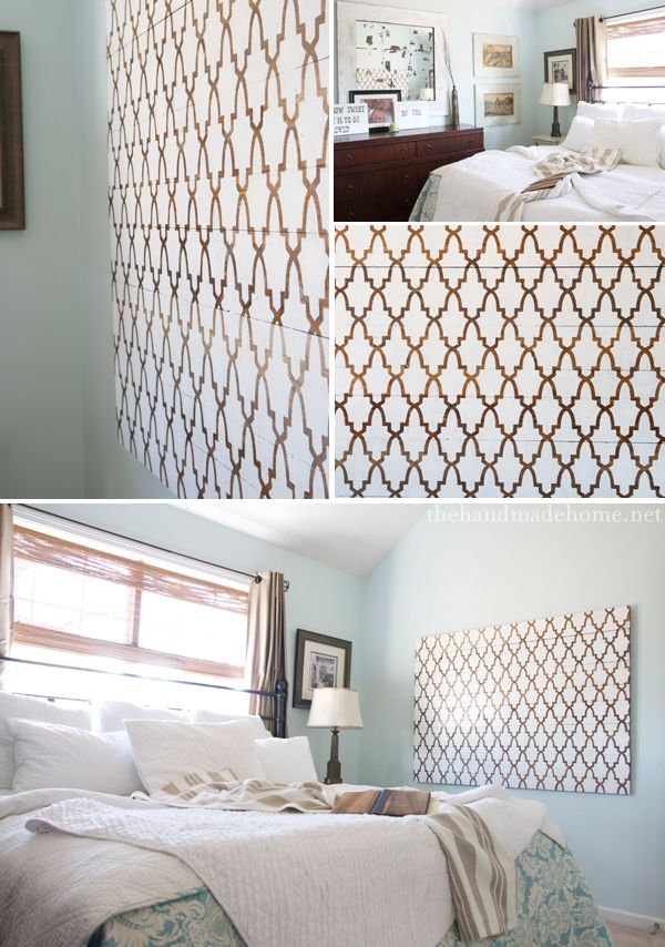 graphic patterns make idea stencil art for a rustic modern feel - Design Stencils For Walls