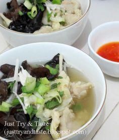 Just Try & Taste: Tekwan: Sup Bola Ikan ala Palembang