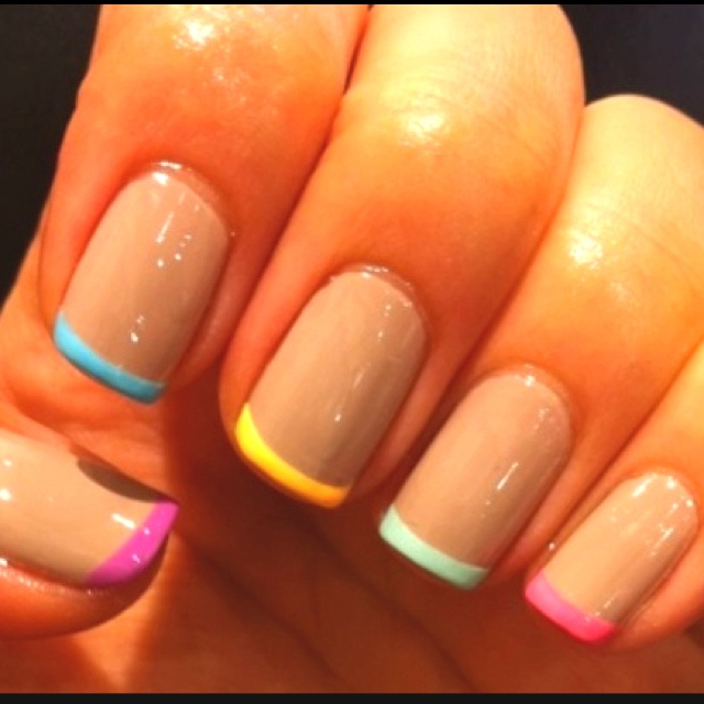 Love the colors: Nude Nails, Nails Art, Nails Colors, French Manicures, Spring Nails, Nails Tips, Nails Ideas, Nails Polish, French Tips