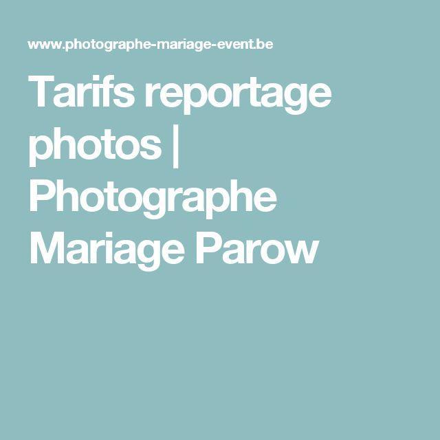 Tarifs reportage photos | Photographe Mariage Parow