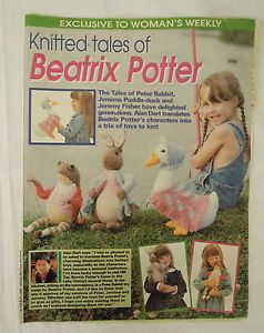 Beatrix Potter Toy Knits By Alan Dart - Peter Rabbit And Jemima Puddle - Duck