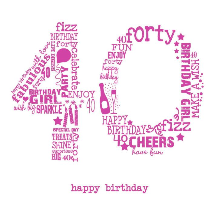 Funny Birthday Wishes Pink: Jeannine Rundle - AD3278A 40TH FEMALE PINK